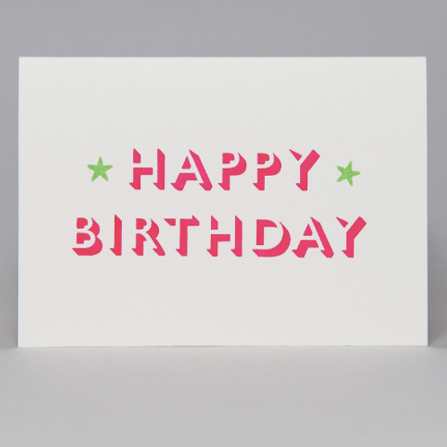 HAPPY BIRTHDAY CARD (PINK)