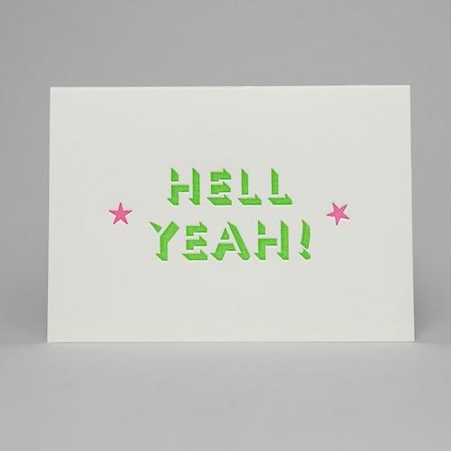 HELL YEAH CARD (GREEN)