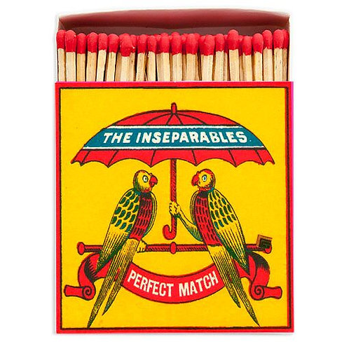 THE INSEPARABLES SQUARE MATCHBOX