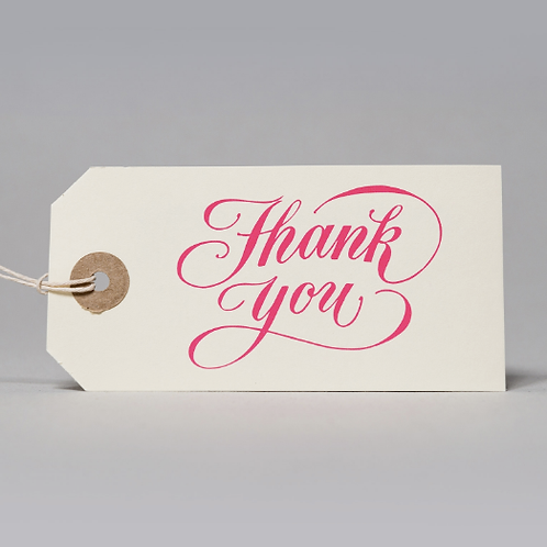 THANK YOU GIFT TAGS (PINK)