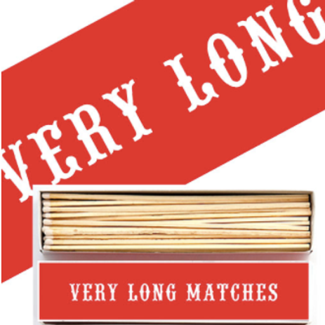 VERY LONG MATCHES MATCHBOX