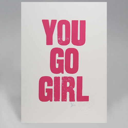 YOU GO GIRL CARD (PINK)