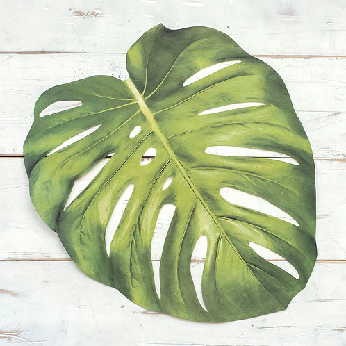DIE-CUT MONSTERA LEAF PAPER PLACEMATS