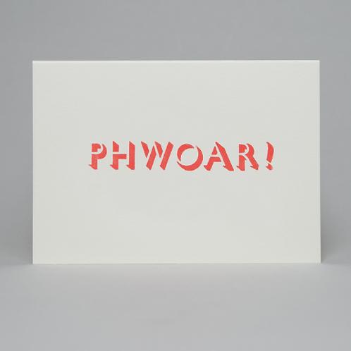 PHWOAR! CARD (ORANGE)