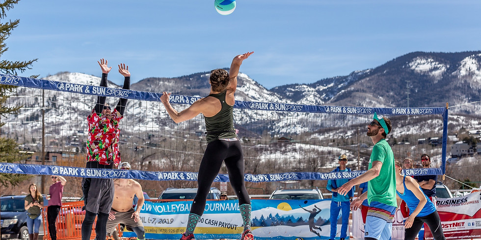 Snow Volleyball Competition