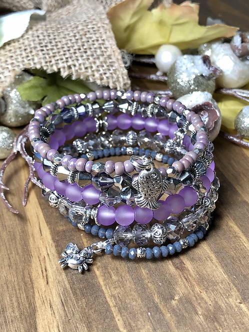 Sea Creatures in Mixed Purple