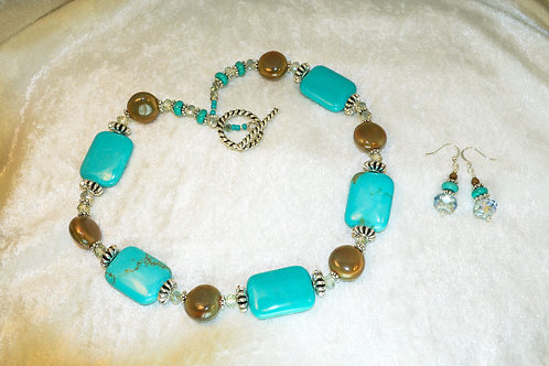 Chunky Magnesite & Silver