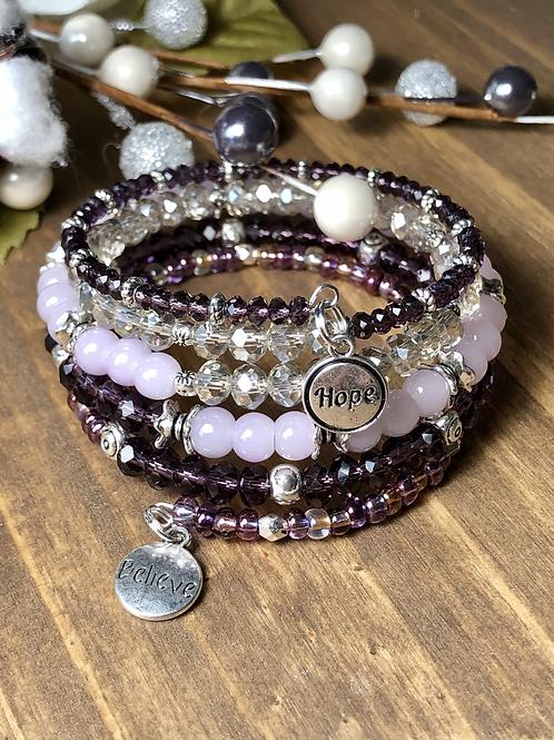 Believe in Hope in Mixed Purples