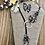 Thumbnail: Black Suede Lariet in Turquoise Earthtones