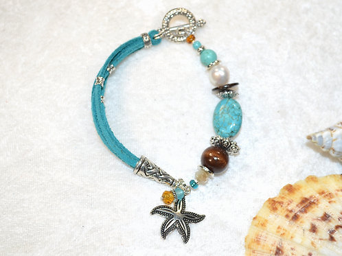 Starfish and Turquoise in Teal