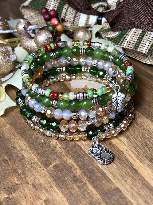 Woodland Friends in Emerald Earthtones