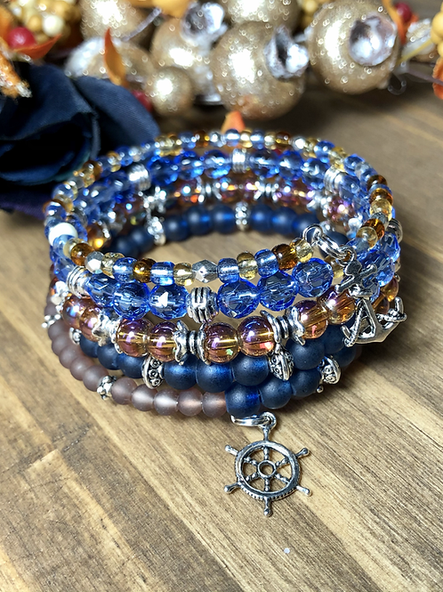 Anchors Away In Blue Jeweled Mix