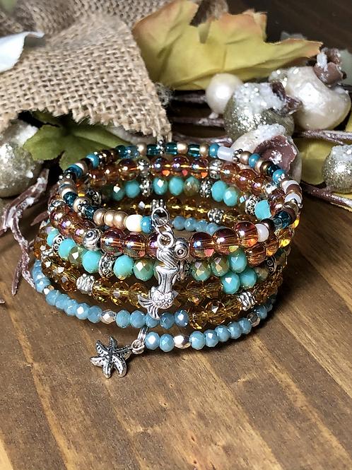 Ocean Friends in Golden Browns & Turquoise