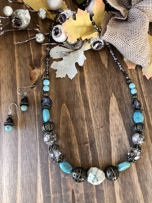 Meld of Brown & Turquoise