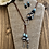 Thumbnail: Brown Suede Lariet with Tan and Blue Swirl