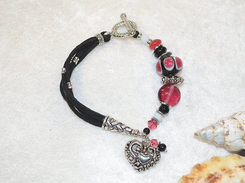 Bold Heart in Pink & Black