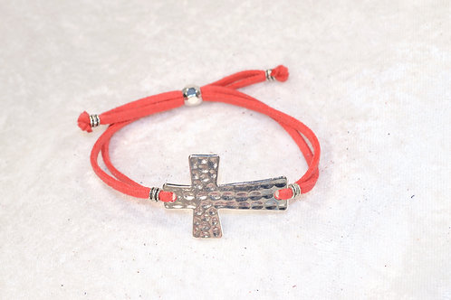 Dimpled Cross in Deep Coral