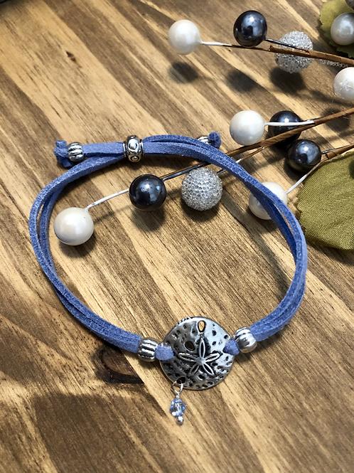 Sand Dollar  in Cornflower Blue