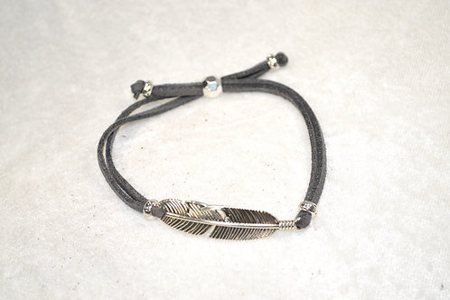 Feather in Steel Gray