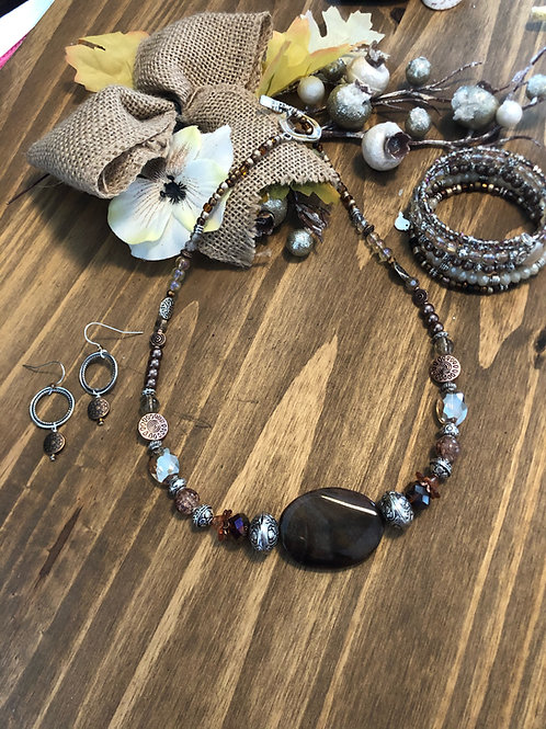 Brown Jasper & Wrap 3 piece Bundle