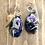 Thumbnail: Black Suede Lariet with Blue & Purple