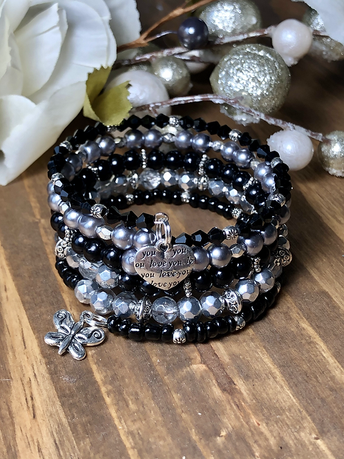 Loving Butterfly in Black and Gray