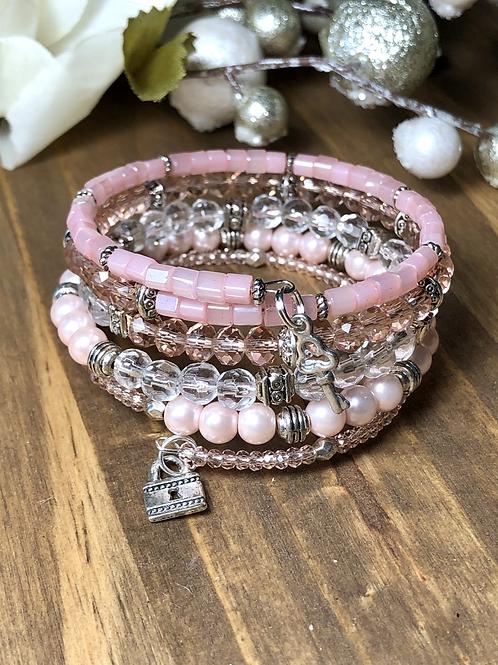 Lock & Key in Pink Blush Tones