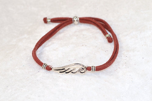 Angel Wing in Brick Red