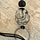 Thumbnail: Black Suede Lariet in Black & Silver