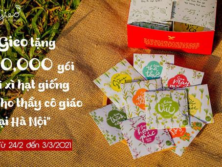 Gieo tặng 10,000 phong bao Lì xì Hạt giống cho các Thầy cô giáo tại Hà Nội