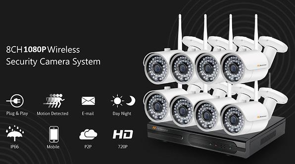 NVR WiFi 무선 IP 녹화기 Kit