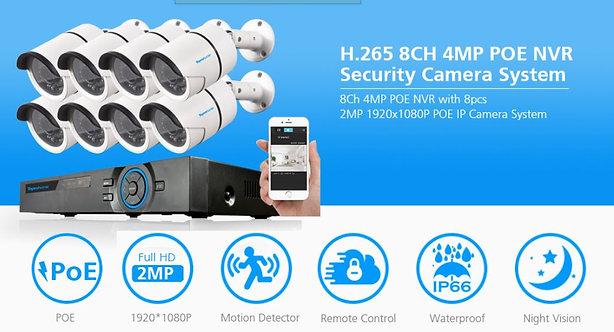 NVR POE 8CH H.265 5MP system