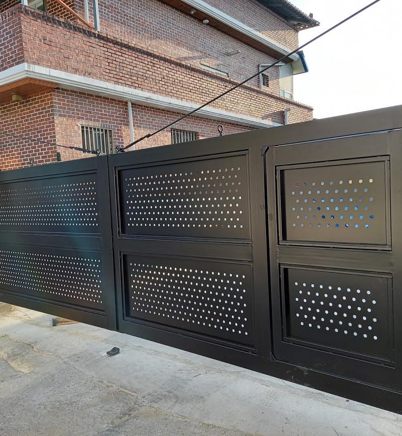 레이저 디자인 양개형 자동대문