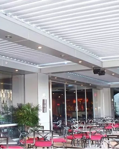 루버파고라 야외 식당