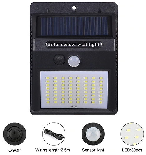 Didihou 100 led 태양광 야외램프 pir 방수