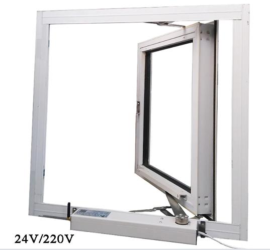 여닫이 창 자동개폐기