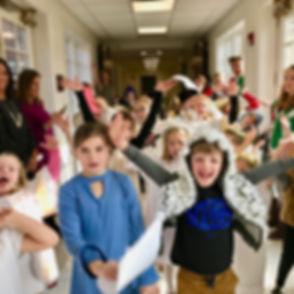 20181217 Kids Chrismas Pageant Hallway p