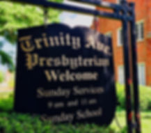 Trinity Ave Welcome Sign North side of b