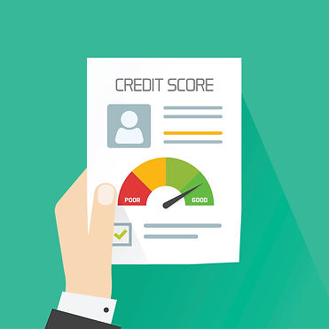 Credit-score-document-vector-concept-han