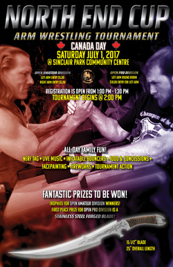 Arm Wrestling Tournament Poster