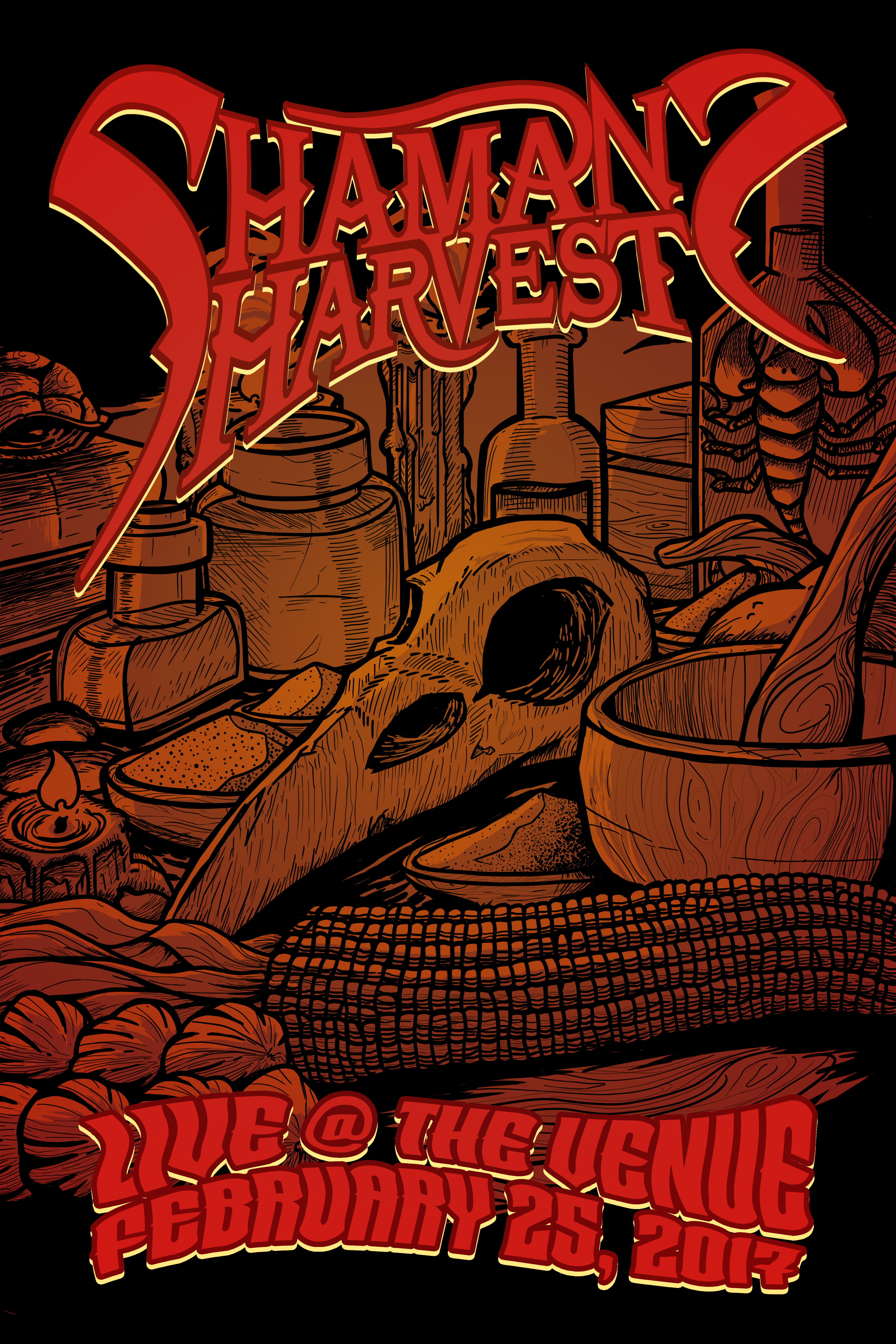 Shaman's Harvest Gig Poster