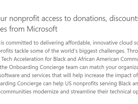Microsoft Offers Resources to Nonprofits serving Black and African American Communities