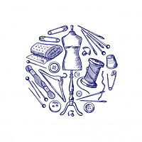 dibujado-mano-elementos-costura-reuniero