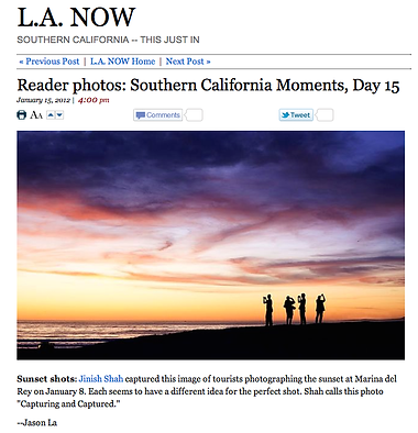 """Los Angeles Times"" - Photo Publication"