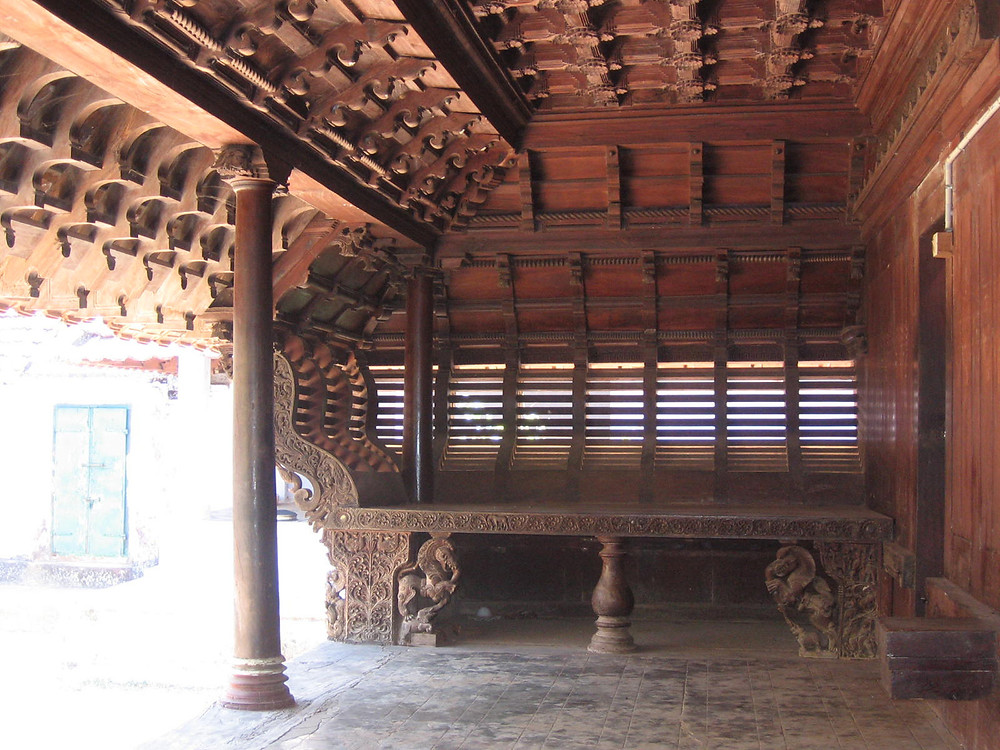 One of the timber framed historic building which is typical of Kerala traditional architecture.