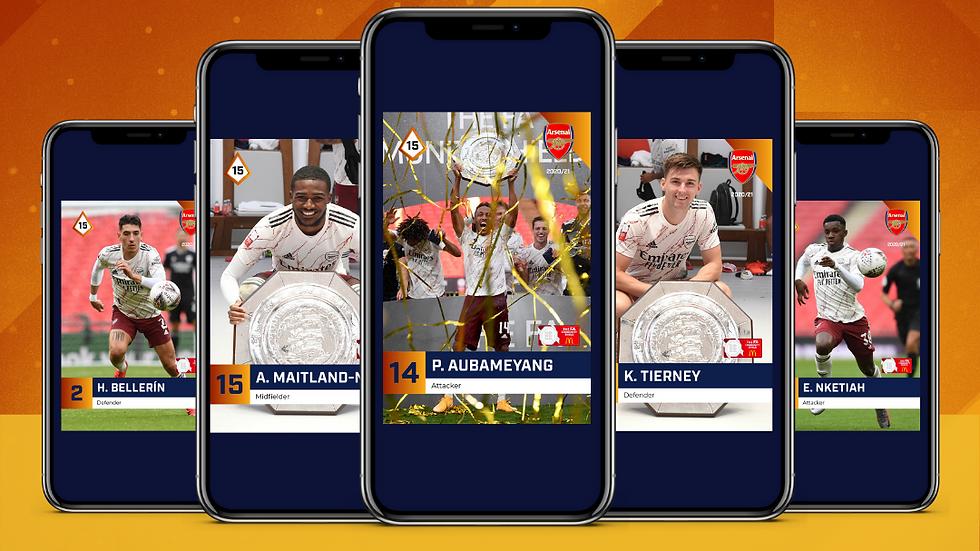 ARSENAL Amber Community Shield 2020/21 Match Moments