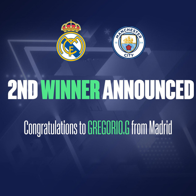 2 Tickets to Real Madrid v Manchester City - Champions League