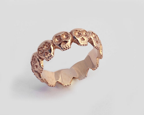 Los Muertos Ring/ 14k gold