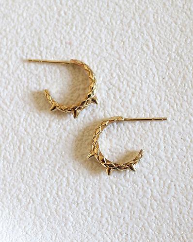 MINI Dragon Tail Earrings/ 14k solid yellow gold