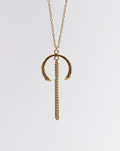 Horn Necklace/ gold